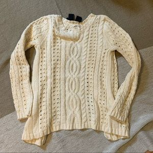 Max Studio cream open back sweater